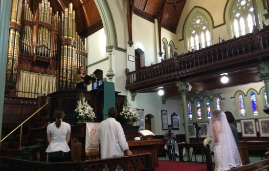 Albert street church - Wedding singer Brisbane