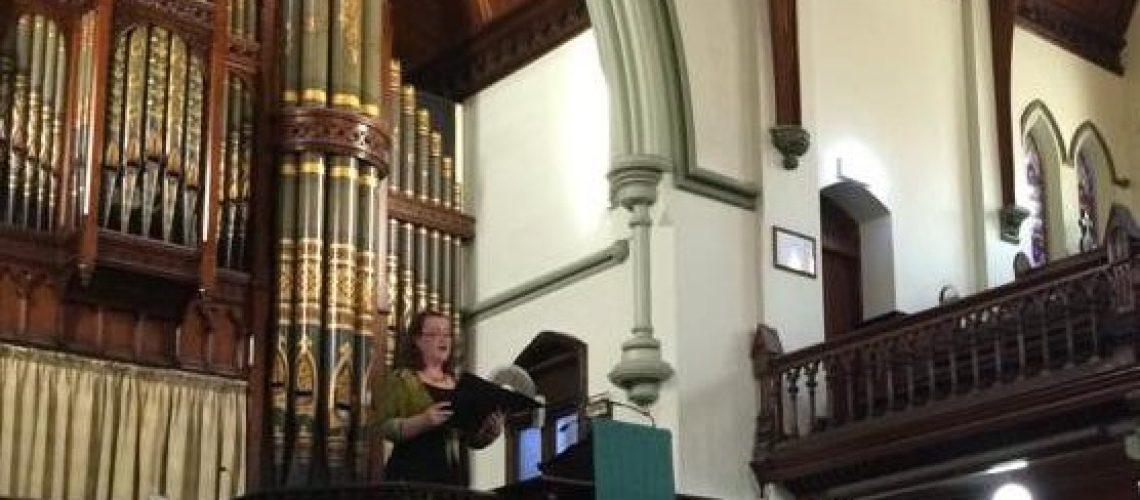 D'Arne Sleeman Singing in Church Wedding